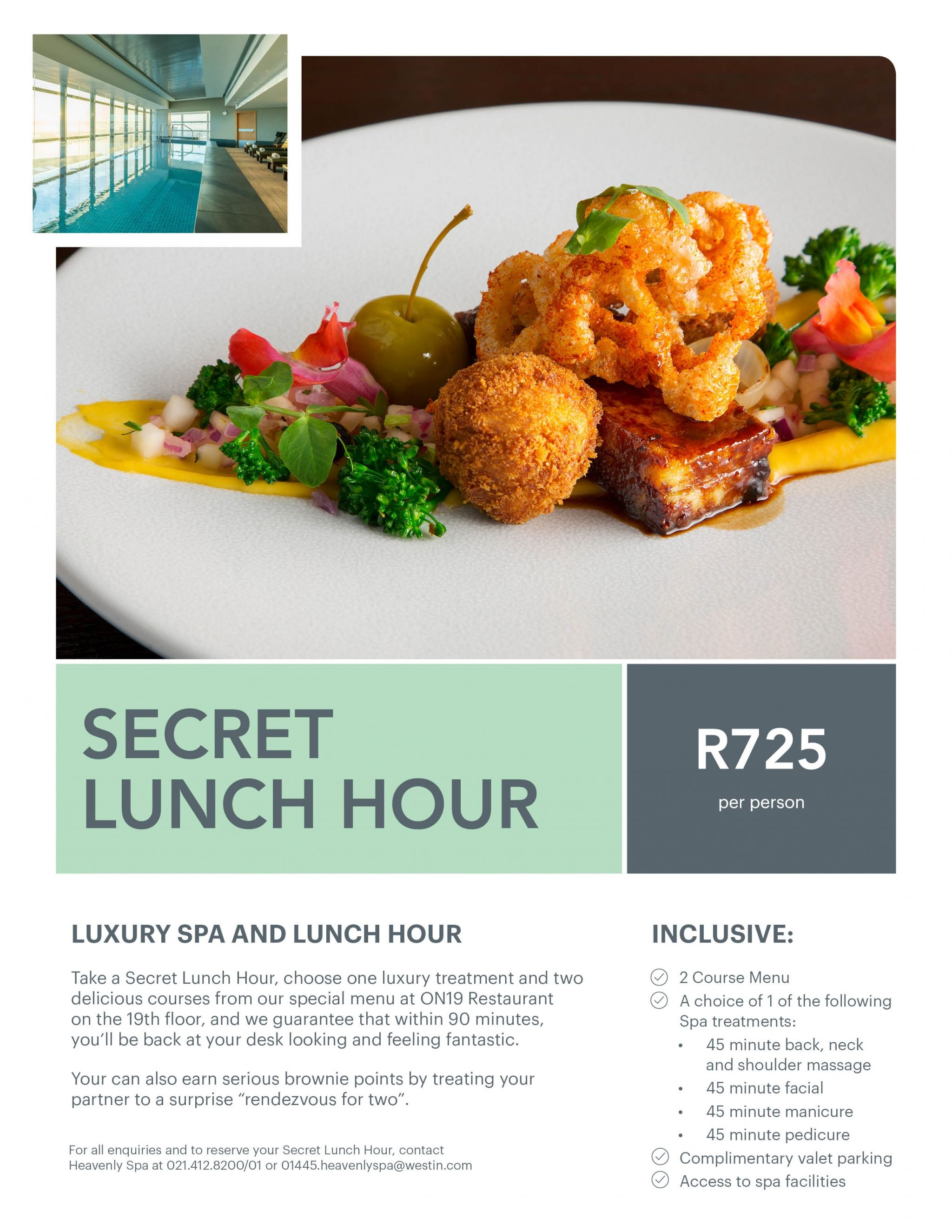 The Westin Cape Town Heavenly Spa Secret Lunch Hour